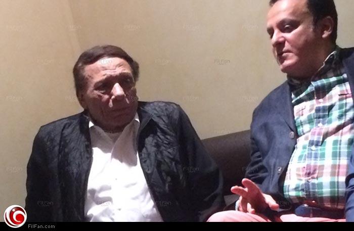 """عادل إمام ويوسف معاطي في سينما """"أمريكانا بلازا"""" لمشاهدة فيلم """"كابتن مصر"""""""