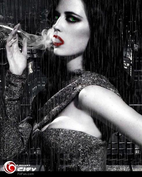 إيفا جرين على بوستر فيلم Sin City: A Dame to Kill For
