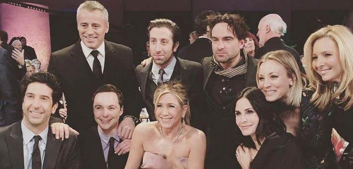 أبطال Friends مع أبطال Big Bang Theory