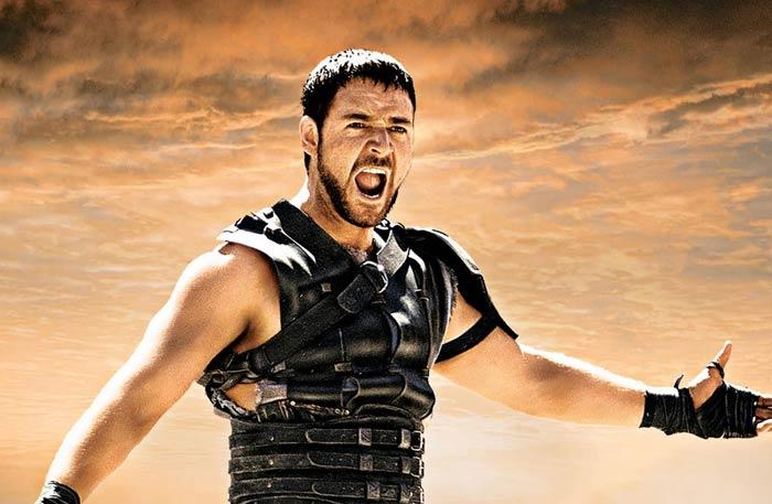 راسل كرو في Gladiator