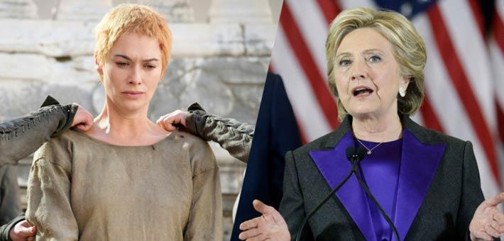 """هيلاري كلينتون وشخصية """"سيرسي لانستر"""" الخيالية"""