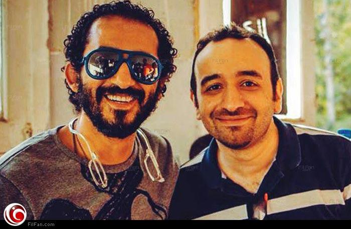 عمرو سلامة مع أحمد حلمي أثناء تصوير الفيلم