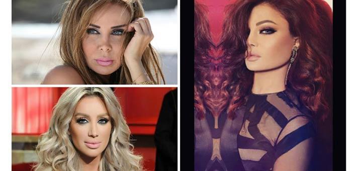 هيفاء وهبى ورولا سعد ومايا دياب
