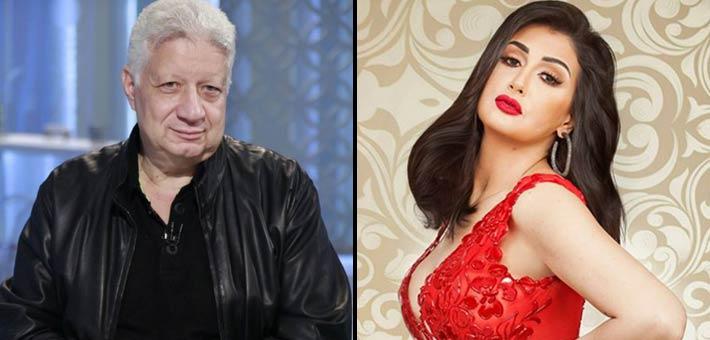 غادة عبد الرازق ومرتضى منصور