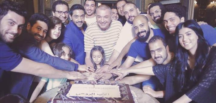 """محمود حميدة يحتفل ببدء تصوير مسلسل """"الأب الروحي"""""""