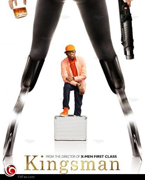 """صامويل جاكسون في ملصق فيلم """"Kingsman"""""""