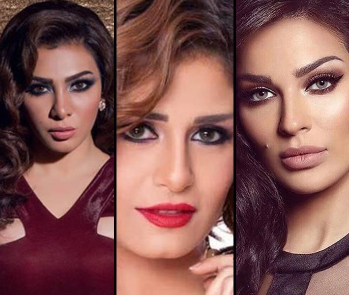 نادين نسيب نجيم ومنة فضالي وميرهان حسين