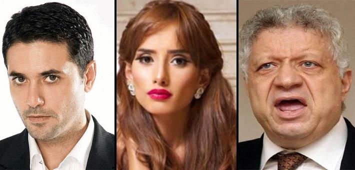 مرتضى منصور وزينة وأحمد عز