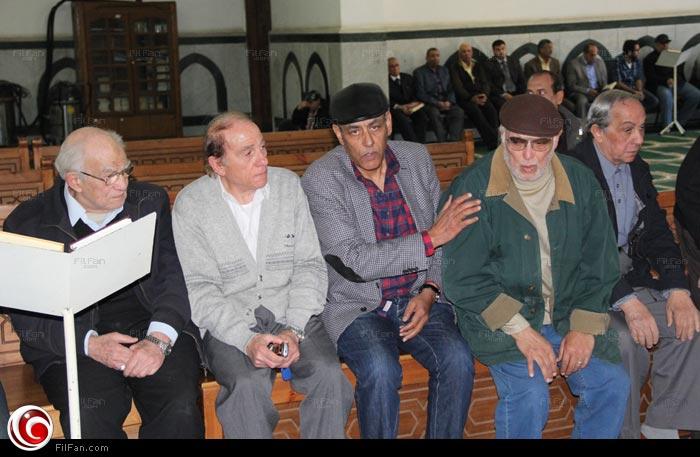 أشرف عبد الغفور وأحمد بدير ومحمود الحديني ورشوان توفيق في جنازة محمد وفيق
