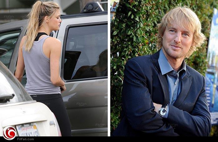 أوين ويلسون يرزق بطفل من مدربته الرياضية كارولين ليندكفيست