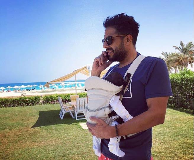 محمد حماقي وابنته فاطمة