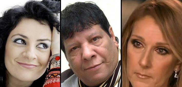 سيلين ديون وشعبان عبد الرحيم وريم بنا