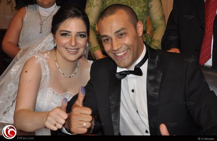علاء الشربيني وعروسته