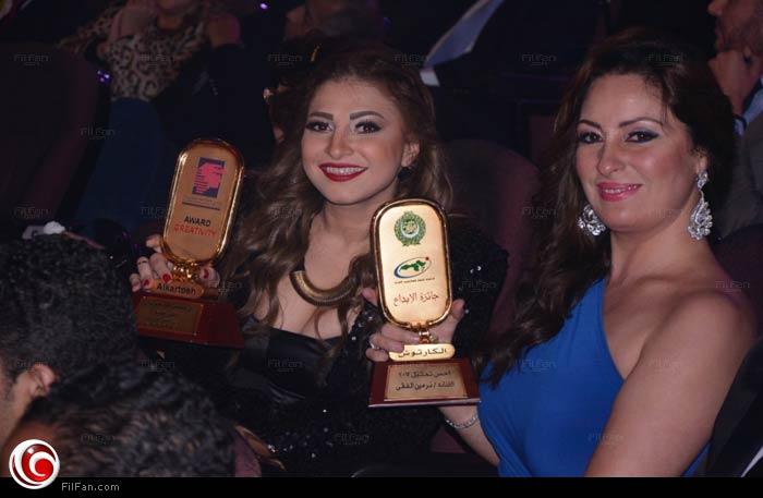 نيرمين الفقي ومنة جلال سعيدتان بجوائزهما من مونديال القاهرة للإذاعة والتليفزيون الثالث