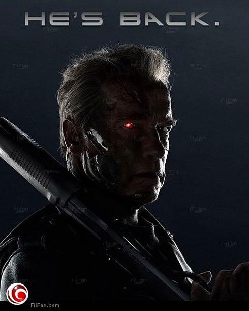 """أرنولد شوازرنجر في ملصق الجزء الخامس من """"Terminator"""""""
