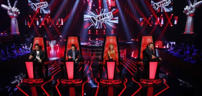 حكام The Voice في الحلقة الثالثة من موسمه الثالث