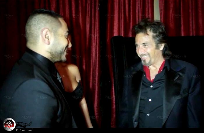 تامر حسني مع آل باتشينو