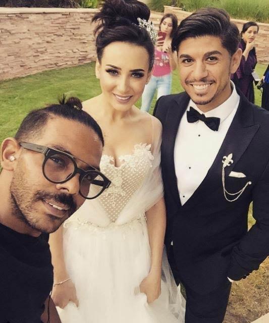 حازم كتانة وساندي في حفل زفافهما