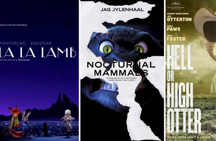 الملصقات الدعائية لأفلام الأوسكار على طريقة فيلم Zootopia