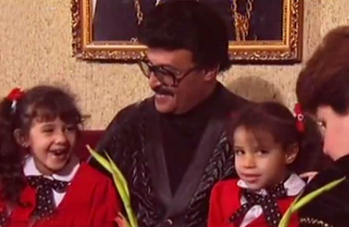سمير غانم وعائلته