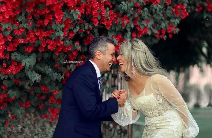 إيمان أبو طالب وزوجها
