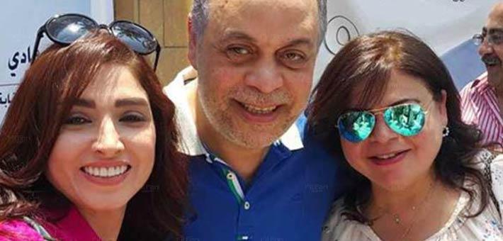 نقيب الممثلين أشرف زكي وزوجته روجيتا وشقيقته ماجدة زكي