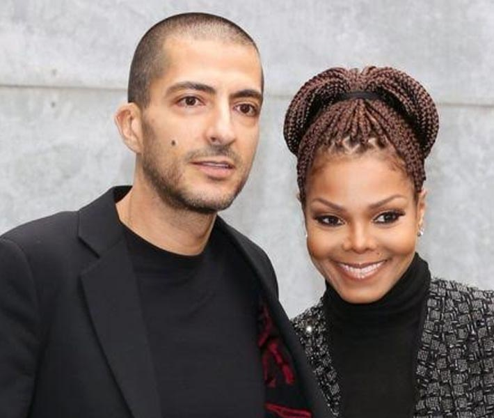 جانيت جاكسون مع زوجها وسام المانع