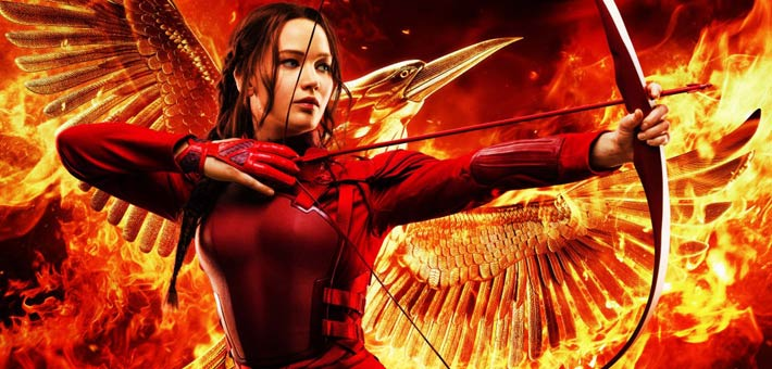 جينيفر لورانس على ملصق The Hunger Games: Mockingjay - Part 2