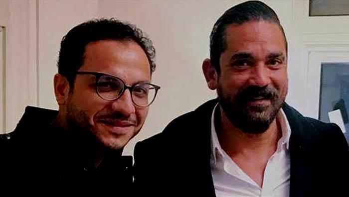 أمير كرارة ومخرج المسلسل بيتر ميمي