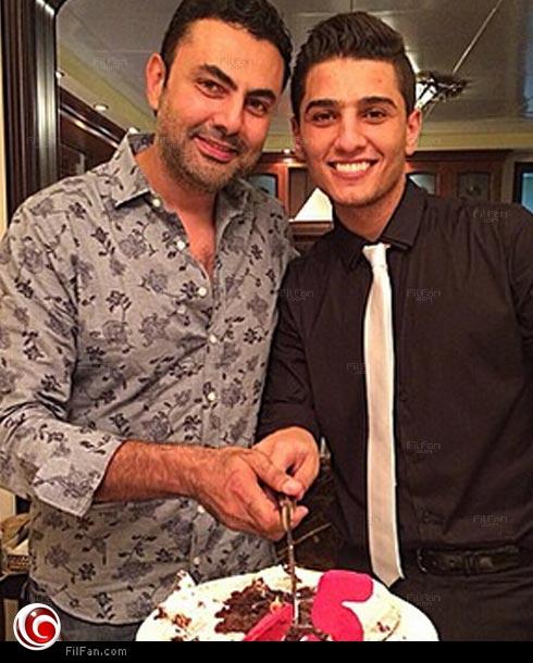 محمد كريم مع محمد عساف في عيد ميلاده