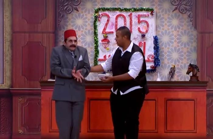 """مشهد من مسرحية """"أنا إيه اللي جابني هنا"""""""