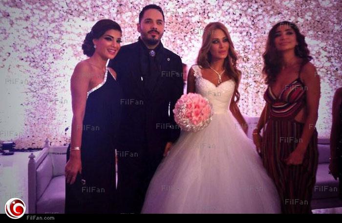 9c6bccc265898 بالصور  سيرين ودينا حايك ونيشان وجومانا بوعيد في حفل زفاف رامي عياش ...
