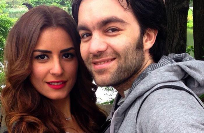 ريهام أيمن وزوجها شريف رمزي