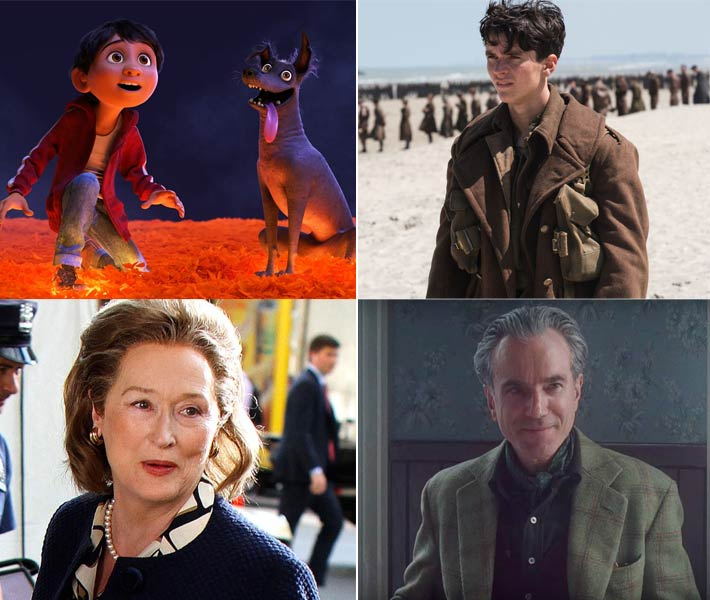 من أفلام Dunkirk وCoco وPhantom Thread وThe Post