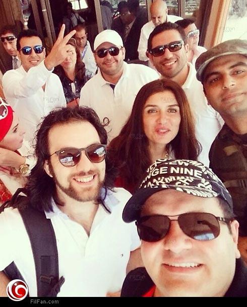 Selfie النجوم في افتتاح مشروع قناة السويس الجديد
