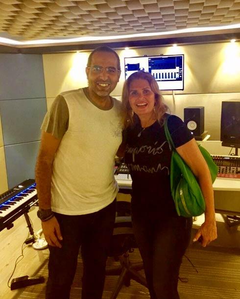 يسرا مع رامي سمير في الأستوديو