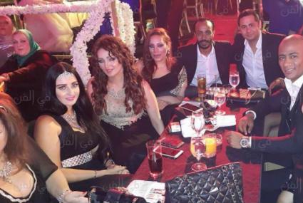 سميرة سعيد ورمضان وعلى ربيع وصافيناز والخطيب ومرتضى منصور في زفاف كريم السبكي وشهد