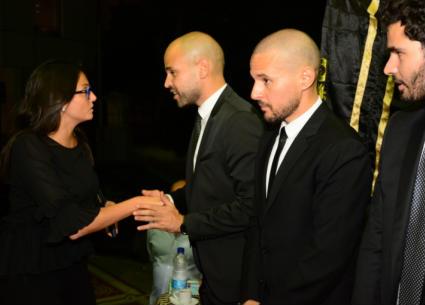 بشرى وطاهر أبو زيد ضمن المعزيين لأبو في وفاة والده