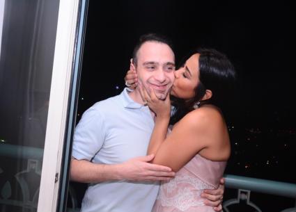 18 صورة من حفل شيرين عبد الوهاب.. إطلالة رقيقة وقبلة لحسام حبيب