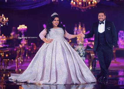 بالفيديو- دويتو حماقي ودنيا سمير غانم في حفل زفاف شيماء سيف ومحمد كارتر