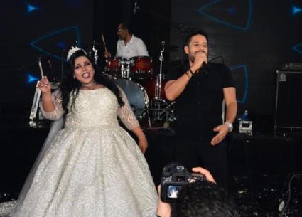 """بالفيديو- شيفاء سيف تصرخ في حفل زفافها """"أحبك يا حماقي"""""""