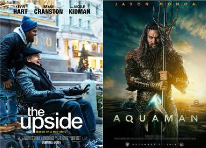 فيلم Aquaman يتخطى حاجز المليار دولار والنسخة الأمريكية من The Intouchables تتصدر الإيرادات