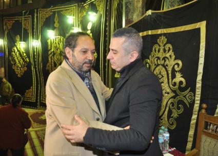 فيفي عبده ونهال عنبر وكمال أبورية في عزاء سعيد عبد الغني