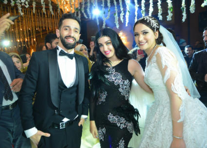 78 صورة من زفاف نهى السبكي.. حضور إيمي سمير غانم وهشام ماجد وصافيناز مع نجوم الفن والرياضة