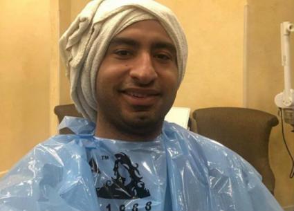 صورة- علي ربيع يقرر التخلى عن شعره أخيراً