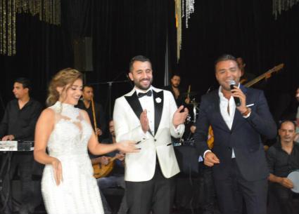 النجوم في حفل زفاف ابنة طارق فؤاد وابن سيد السبكي