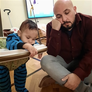 محمد السعدني وابنه