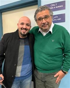 """محمد السعدني وماجد الكدواني في كواليس """"ولاد ناس"""""""