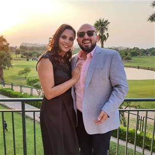 محمد السعدني وزوجته