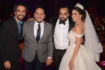 28 صورة-  نجوم الفن والمشاهير يحتفلون بزفاف المخرج أحمد تمام وروميساء سامح